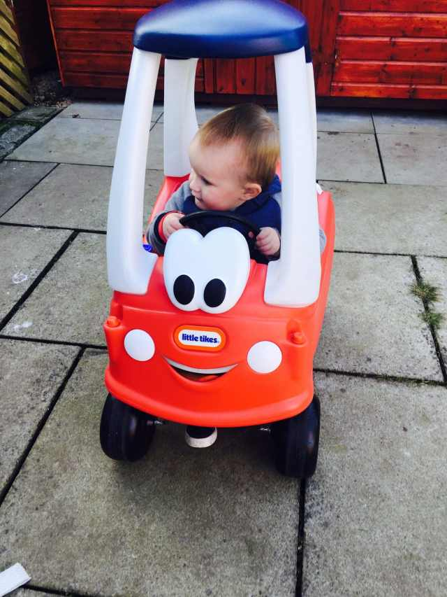 Weekend Photos | Cozy Coupe Little Tikes