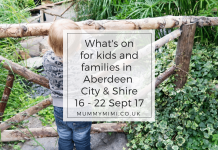 What's on for Kids and Families in Aberdeen City & Shire (16th - 22nd September 2017) Aberdeenshire events