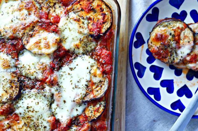 Eggplant, Tomato & Mozzarella Bake