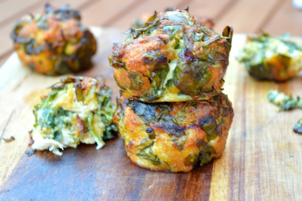 Cheesy Chicken & Spinach Bites