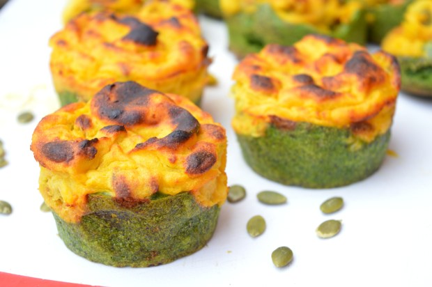 Spinach Pumpkin Cups