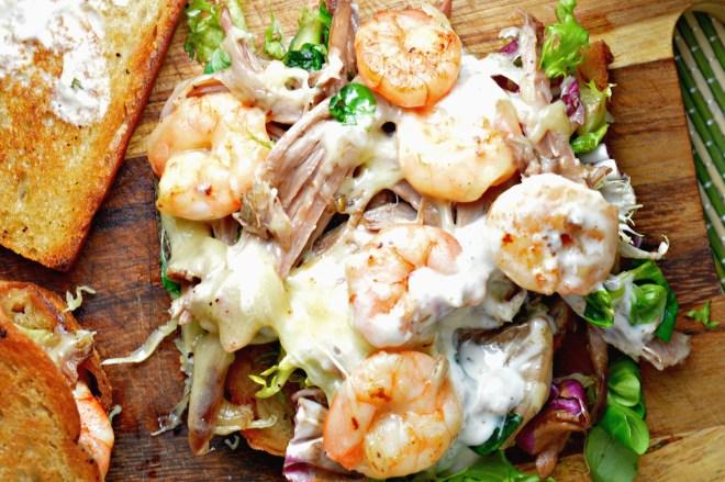 Shredded Goose & Shrimp Sandwich