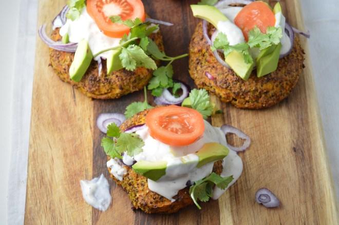 Butternut Squash, Quinoa & Chia Seed Burgers