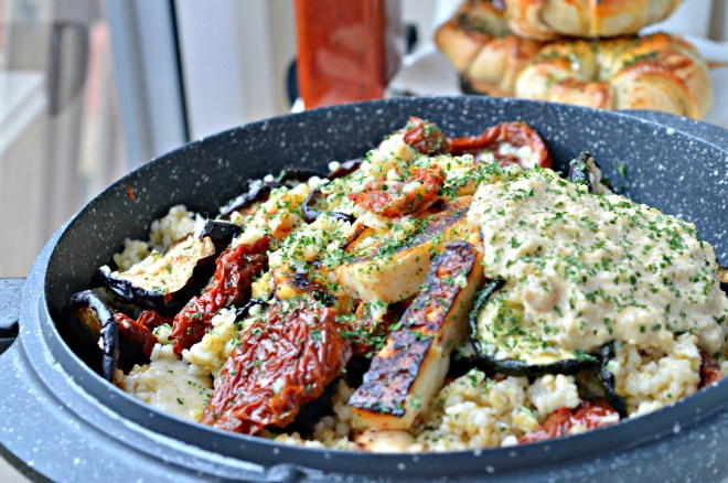 MM: Grilled Vegetables & Halloumi Bulgur Salad