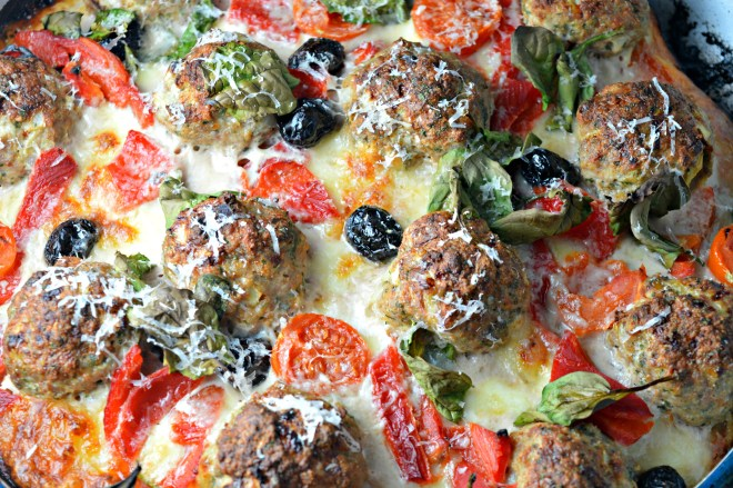 Turkey Meatball Pizza