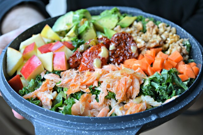 Smoked Salmon Kale Salad