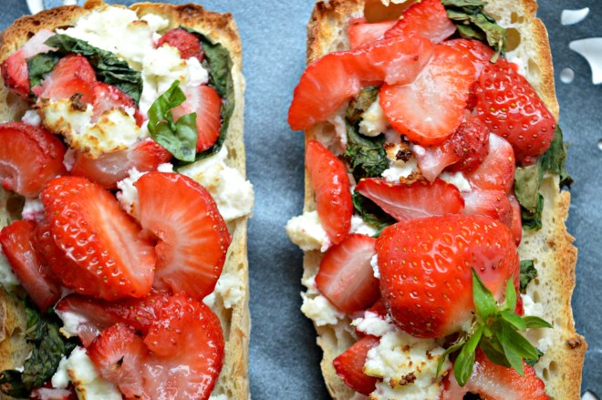 Strawberry Bruschetta with Paneer