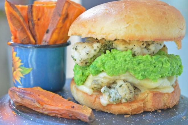 Succulent Cod Burger
