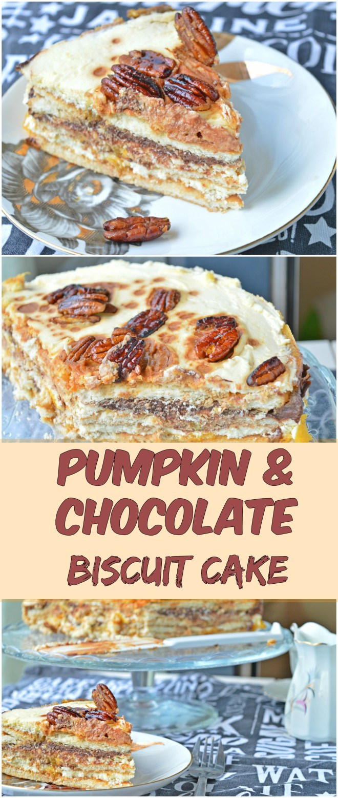 Pumpkin & Chocolate Biscuit Cake