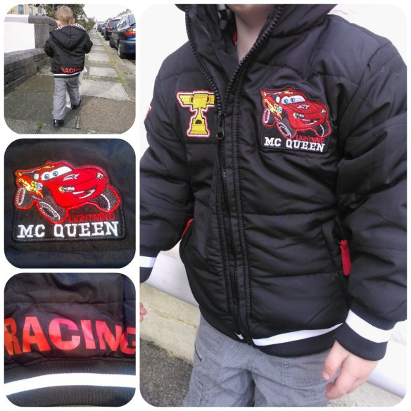 Lightening McQueen coat Tesco