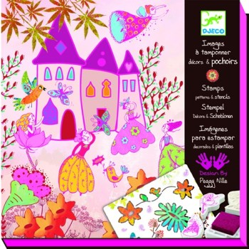 Djeco_princess-create-a-story-stamp-stencil-set_butterflies and dragons