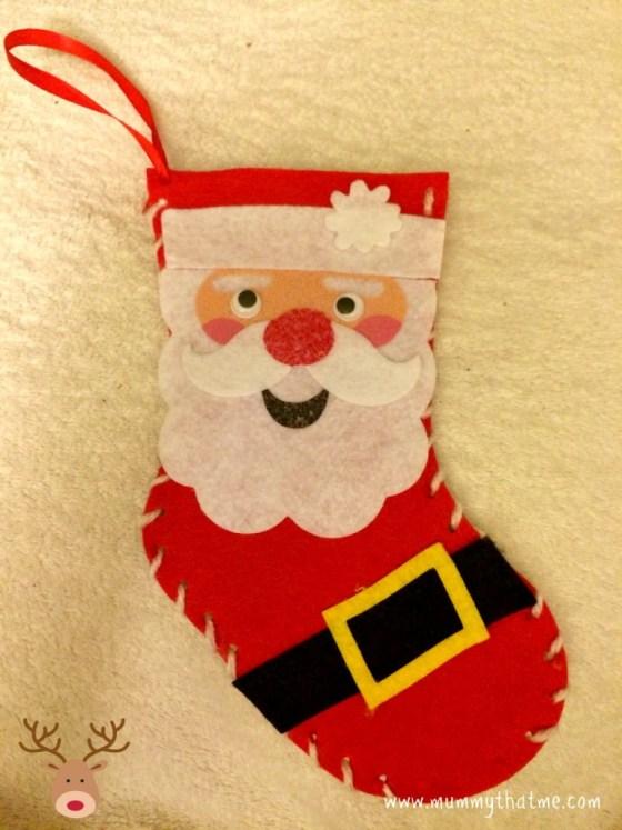 Christmas stocking craft