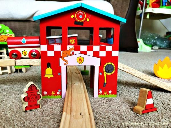 Fire and Rescue Train Set Lionel