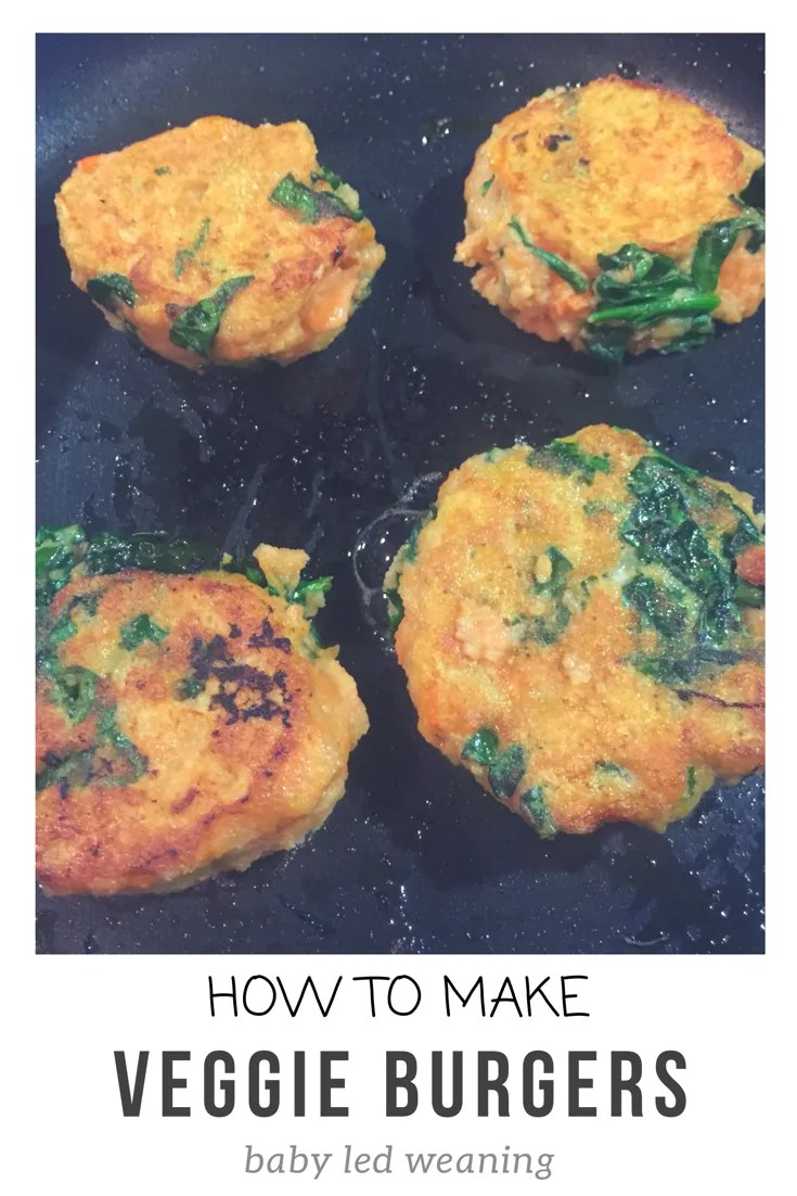 Sweet potato veggie burgers recipe using healthy and nutririous ingredients. These burgers are perfect for baby led weaning or a family dinner.