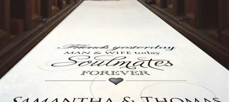 *Prize Draw* Personalised 10m aisle runner