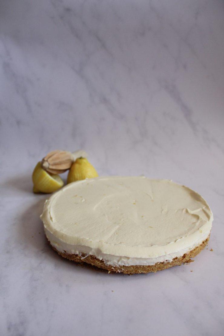 Easy no bake lemon cheesecake #Cheesecake