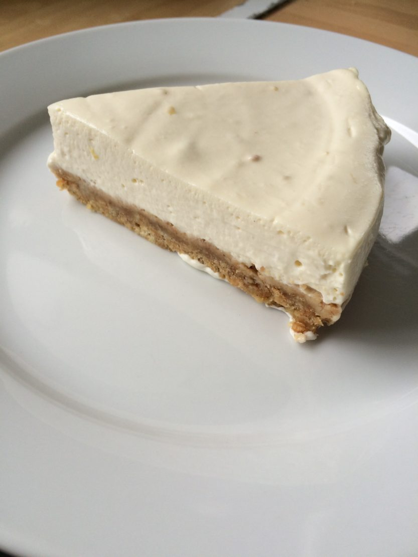 Easy no bake lemon cheesecake