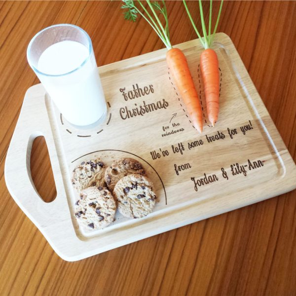 Personalised Father Christmas treat board