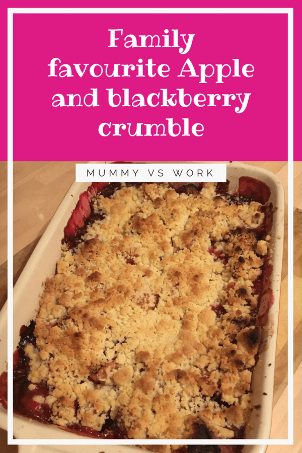 Family favourite Apple and blackberry crumble