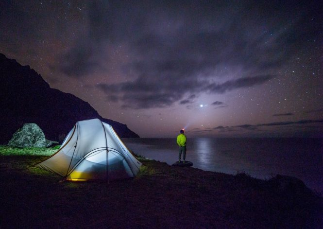 Camping, making the most of the UK Scenery