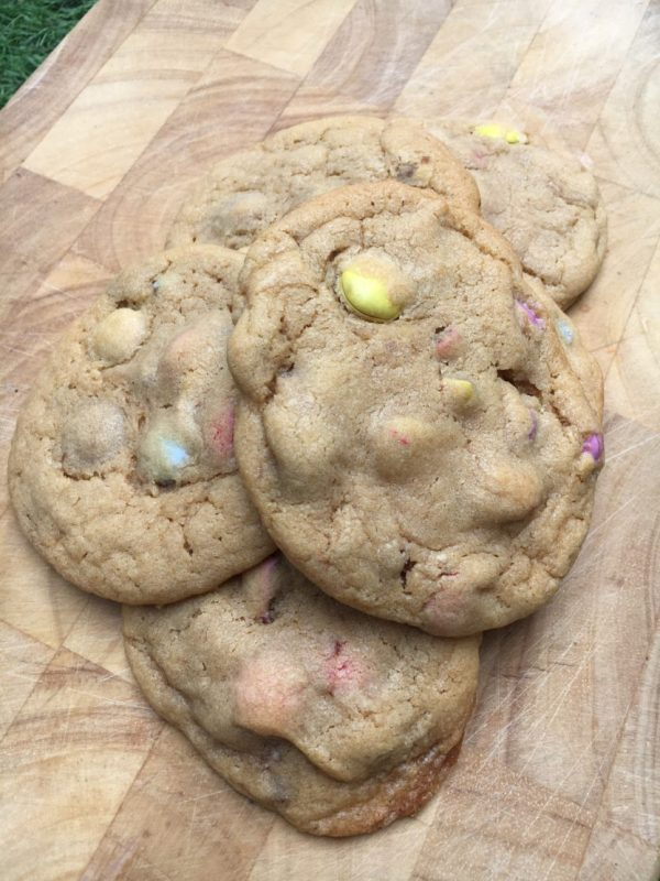 Home made Smarties cookies