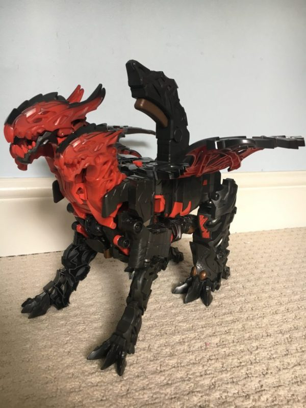 The Last Knight Mega 1-Step Turbo Changer Dragonstorm Figure