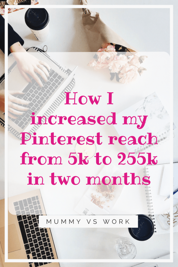 How I increased my Pinterest reach from 5k to 255k in two months