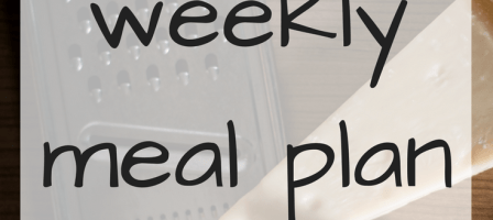 Our weekly meal plan – 18/12/17