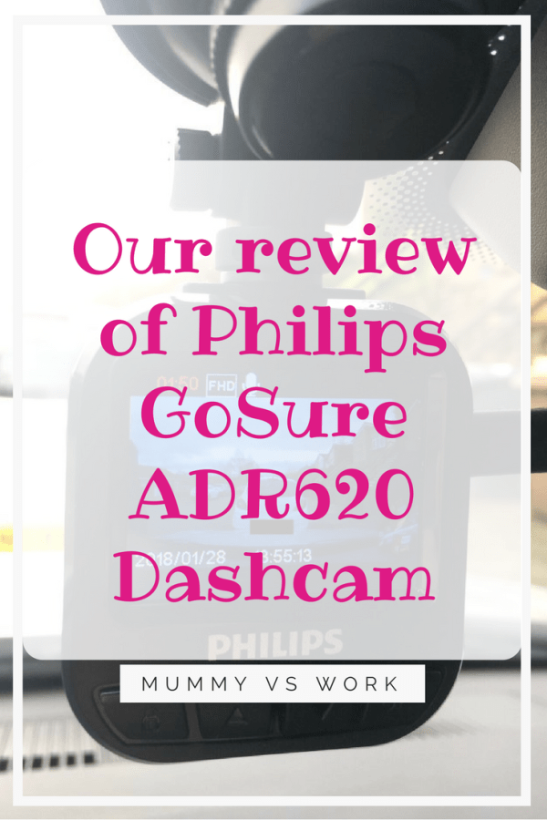 Our review of Philips GoSure ADR620 Dashcam
