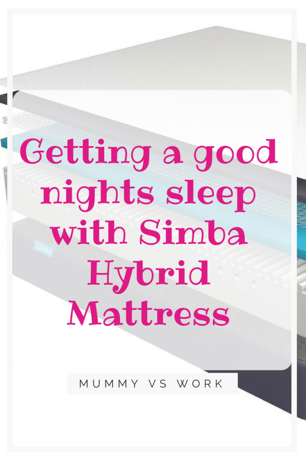 Getting a good nights sleep with Simba Hybrid®Mattress