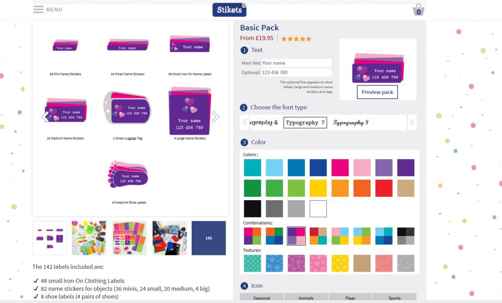 Stickets design - Basic pack