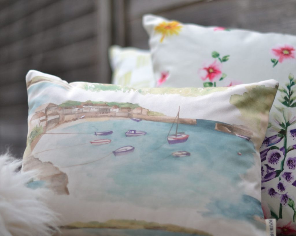 Kate Hipwell - cushion - Cornwall