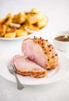 Baked ham with maple mustard glaze – perfect for Christmas