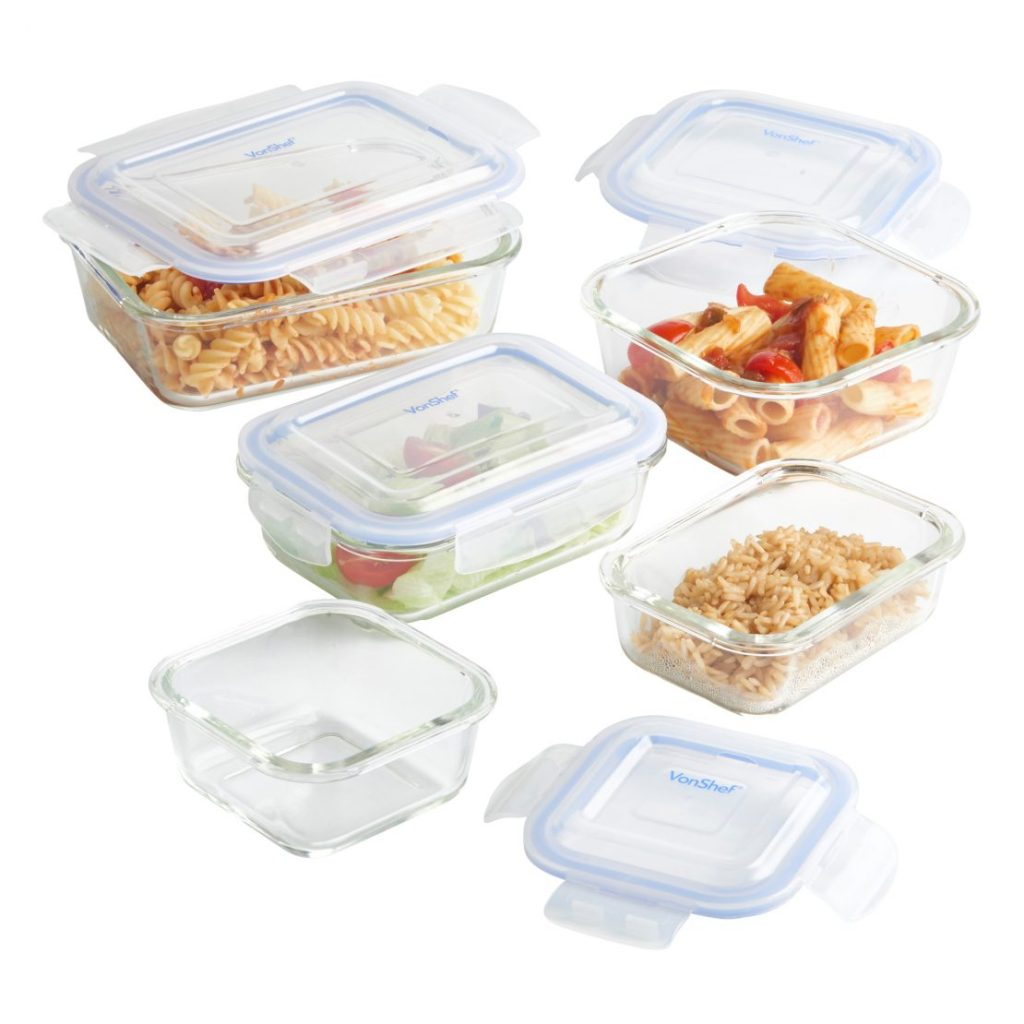 VonShef 5pc Glass Containers - £17.99