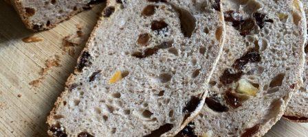Hot cross bun loaf in the breadmaker