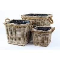 *Prize draw* 2 grey & buff rattan square wicker planters