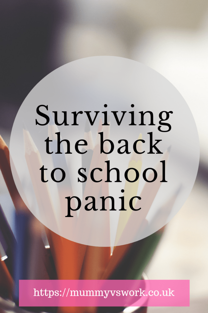 Surviving the back to school panic