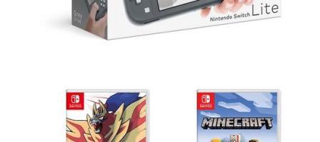 *Christmas prize draw* Nintendo Switch Lite Grey Console with Pokemon Shield & Minecraft