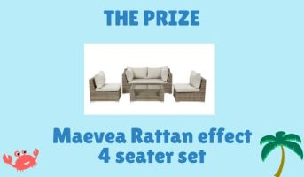 *Prize draw* Win a 4 seater garden set for summer
