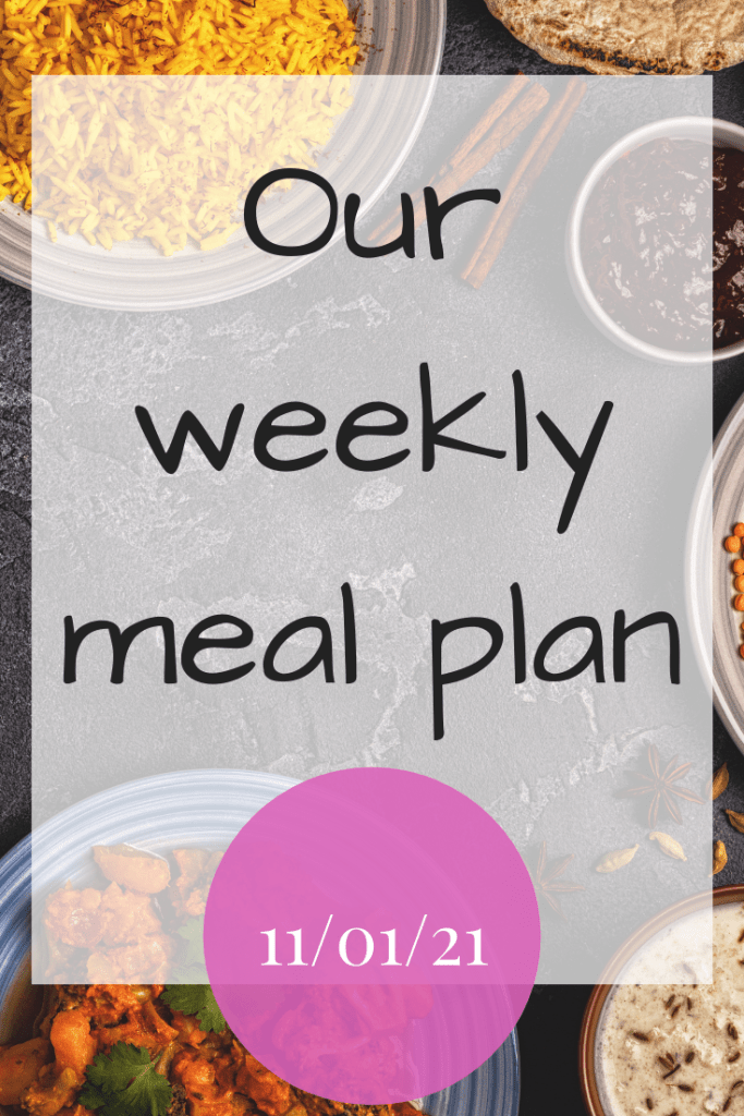 Our weekly meal plan - 11/01/21 - Come see what delicious meals we are cooking this week