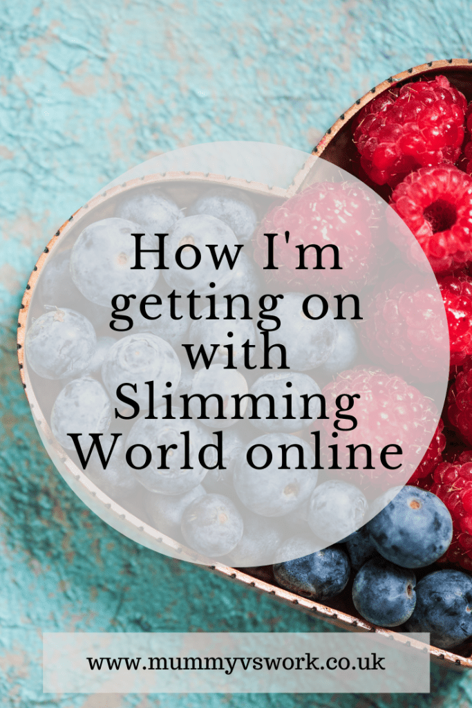 How I'm getting on with Slimming World online