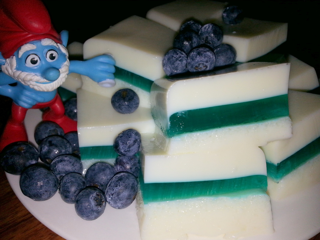 Smurf Jelly Slice