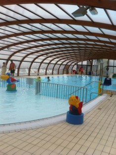 All weather swimming pool at Domaine De Litteau