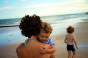 My family on a normandy beach