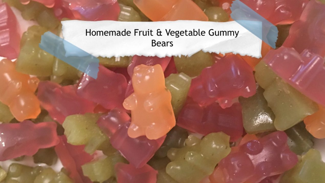 Homemade Fruit & Vegetable Gummy Bears