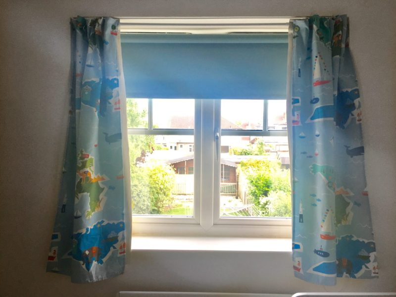 DIY Blackout Curtains with Tension Rod