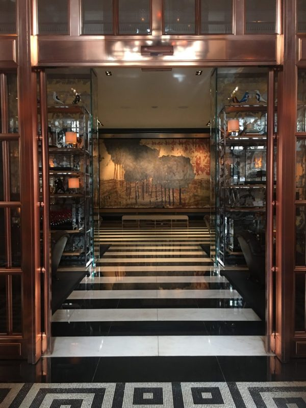 Entrance to the Rosewood London Hotel