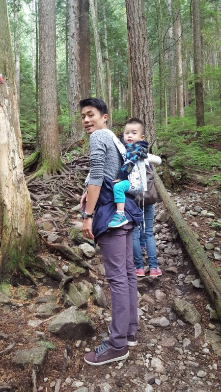 Hiking with a toddler. Make sure you have a comfortable baby carrier. There will be long walks!