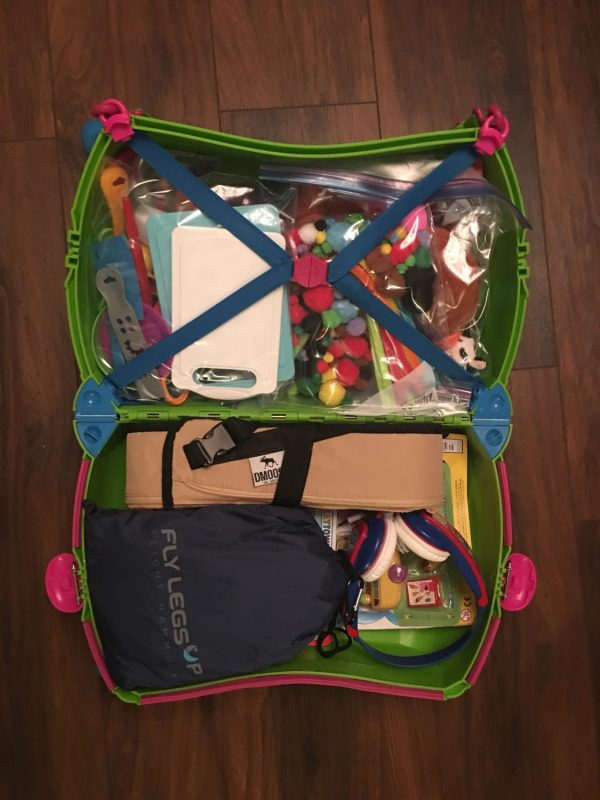 Toddler Hand Luggage Essentials in a Trunki