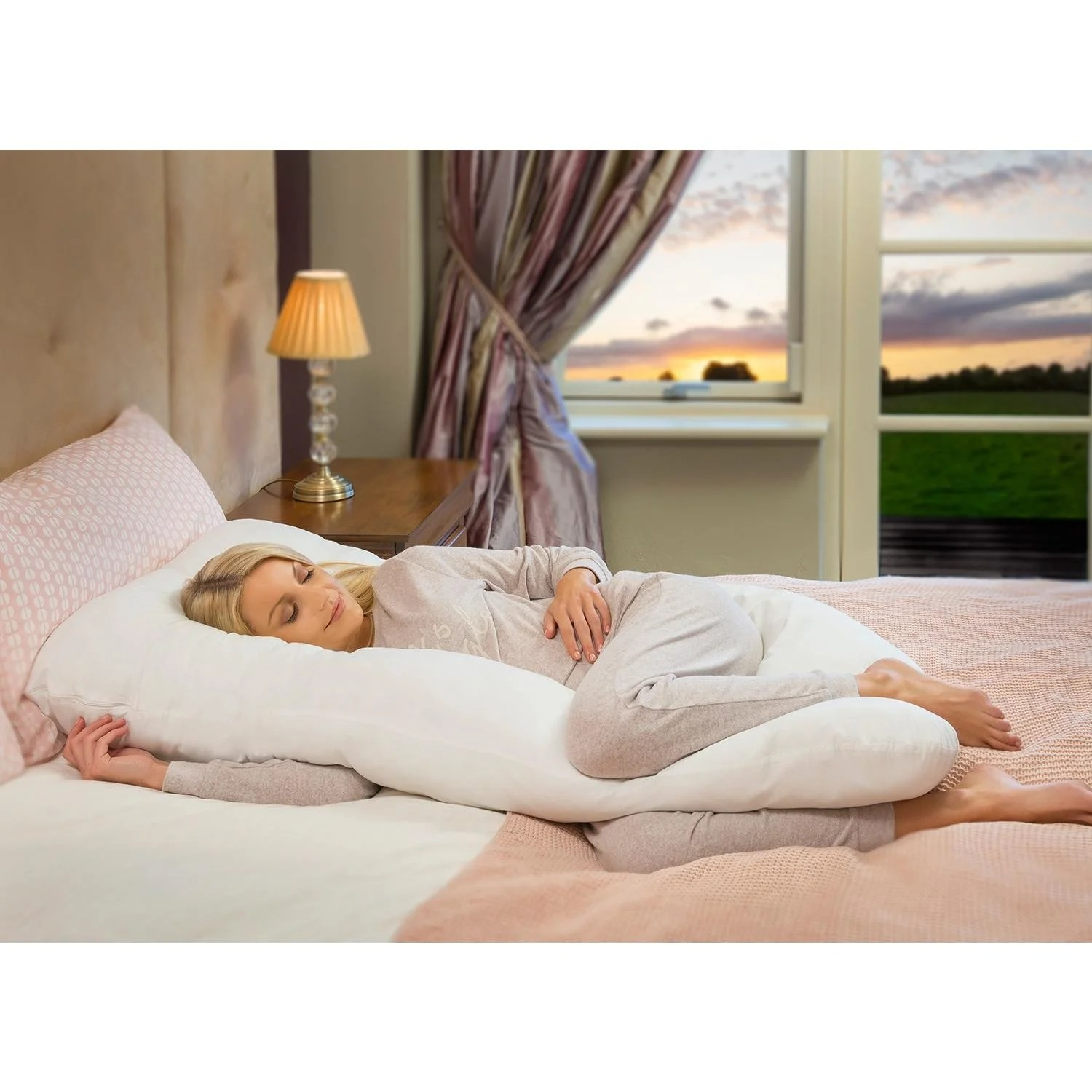 clevamama therapeutic body bump maternity pillow
